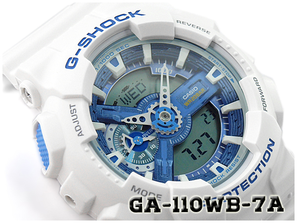 7db8c654bce0 G-SUPPLY  G-shock G shock gshock Casio CASIO an analog-digital watch speed  measurement feature shock resistant structure shock resist white light blue  ...