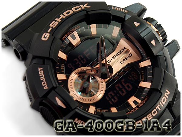 G-SHOCK Gショック 逆輸入海外モデル ジーショック CASIO カシオ アナデジ 腕時計 ブラック ローズゴールド GA-400GB-1A4CR GA-400GB-1A4【あす楽】