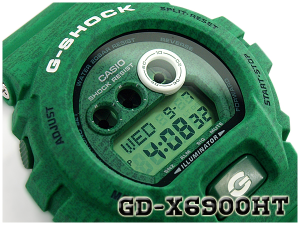 G-SUPPLY: CASIO G-SHOCK Casio G-Shock reimportation foreign countries モデルヘザード color series-limited model digital watch green GD-X6900HT-3ER ...