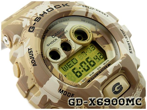 G-休克限量版模型 G 衝擊 gshock 凱西歐凱西歐數位手錶迷彩系列偽裝系列沙漠迷彩 GD-X6900MC-5CR GD-X 6900MC-5