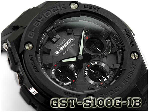 カシオ Gショック Gスチール CASIO G-SHOCK G-STEEL ソーラー アナデジ メンズ 腕時計 オールブラック GST-S100G-1BCR GST-S100G-1B【あす楽】