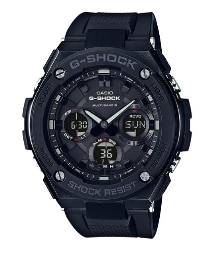 카시오 CASIO G-SHOCK 카시오 G 쇼크 G-STEEL G 스틸 GST-W100G 기반 멀티 밴드 6 솔 러 전파-디지털 시계 블랙 GST-W100G-1BJF GST-W100G-1B