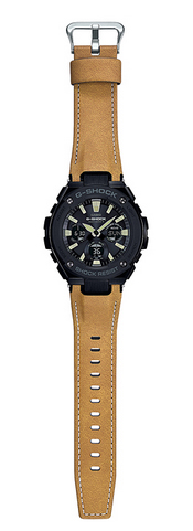 G-SHOCK G打擊G打擊G-STEEL G鋼鐵卡西歐CASIO電波soraanadejimenzu手錶芥子×黑色強壯的皮革GST-W120L-1BJF