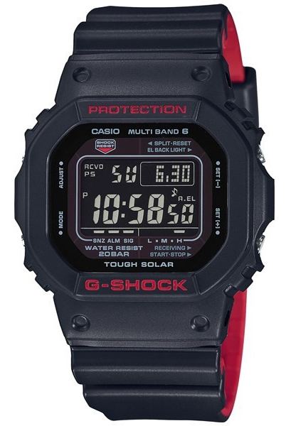 카시오 CASIO G-SHOCK 카시오 G 쇼크 Black & Red Series 블랙 & 레드 시리즈 전파 솔 러 GW-5000 기반 디지털 남자 시계 블랙/레드 GW-5000HR-1JF GW-5000HR-1