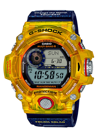 brand new 3264a d938d G-SHOCK G-Shock RANGEMAN range man EARTHWATCH collaboration-limited model  electric wave solar Casio CASIO digital watch yellow blue GW-9403KJ-9JR