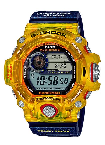 G-SHOCK Gショック RANGEMAN レンジマン EARTHWATCH コラボ 限定モデル 電波ソーラー カシオ CASIO デジタル 腕時計 イエロー ブルー GW-9403KJ-9JR【国内正規モデル】