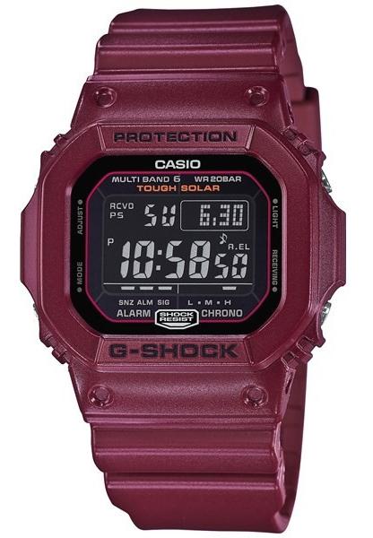 凱西歐凱西歐 g 衝擊凱西歐 G 衝擊半啞光處理無線電太陽能 GW M5610 基於數位男手錶黑色 / 波爾多 GW-M5610EW-4JF GW-M 5610EW-4