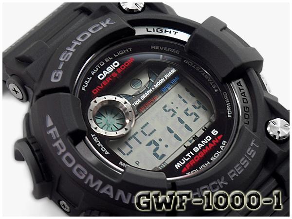 G-SHOCK Gショック ジーショック マスターオブG フロッグマン FROGMAN 逆輸入海外モデル カシオ CASIO  ソーラー 電波時計 メンズ 腕時計 ブラック GWF-1000-1CR GWF-1000-1【あす楽】