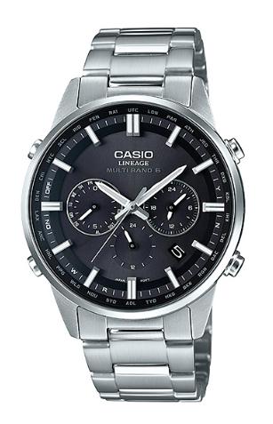 卡西歐CASIO LINEAGE riniejimaruchibando 6電波太陽能模擬人手錶黑色×銀子LIW-M700D-1AJF LIW-M700D-1A