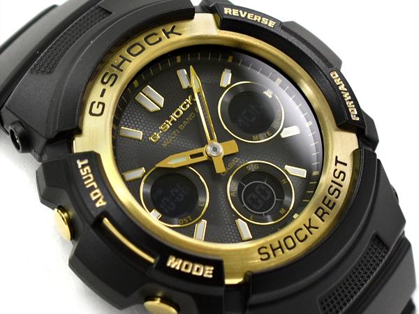 G-SHOCK Gショック ジーショック ブラック&ゴールドシリーズ 逆輸入海外モデル カシオ CASIO アナデジ 電波 ソーラー 腕時計 ブラック ゴールド AWG-M100SBG-1ACR AWG-M100SBG-1A【あす楽】