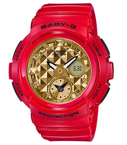 ef290345daa3c BABY-G baby G ベビージー-limited model Casio CASIO アナデジ watch red gold  BGA-195VLA-4AJF