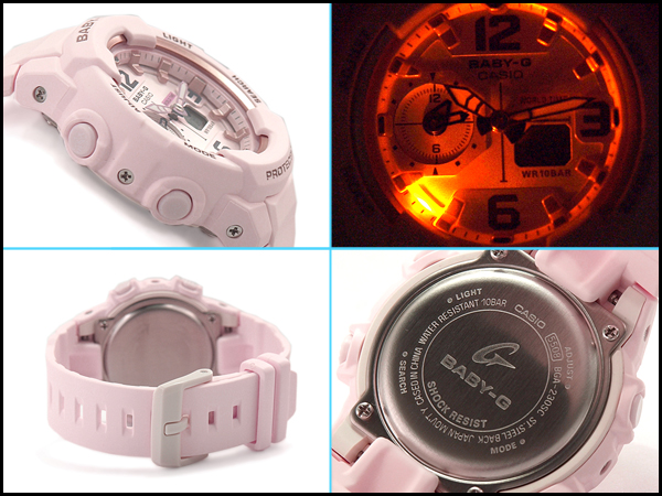 Baby G Baby-G ベビージー reimportation foreign countries model Casio CASIO アナデジ watch pastel pink BGA-230SC-4BCR BGA-230SC-4B