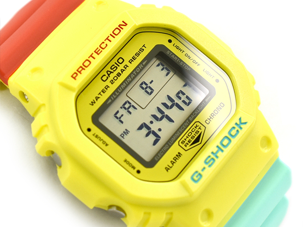 579ff408916a G-SHOCK G ショックジーショック-limited model Breezy Rasta Color ブリージー raster color  reimportation foreign countries model Casio CASIO digital watch ...
