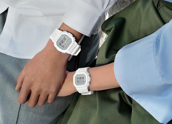 G-SHOCK G打擊G打擊限定型號軍事彩色卡西歐CASIO數碼手錶白DW-5600CU-7JF