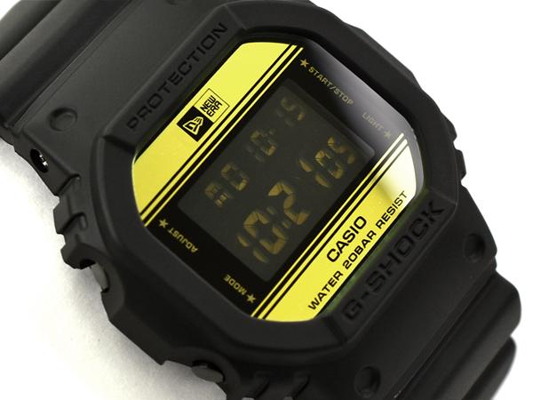 G-SHOCK Gショック ジーショック 35周年限定モデル NEW ERA(ニューエラ)コラボモデル 逆輸入海外モデル カシオ CASIO デジタル 腕時計 ブラック ゴールド DW-5600NE-1ER DW-5600NE-1【あす楽】