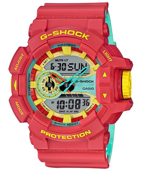 650c5bd524d9 G-SHOCK G ショックジーショック-limited model Breezy Rasta Color Casio CASIO アナデジ watch  world thyme raster color red GA-400CM-4AJF