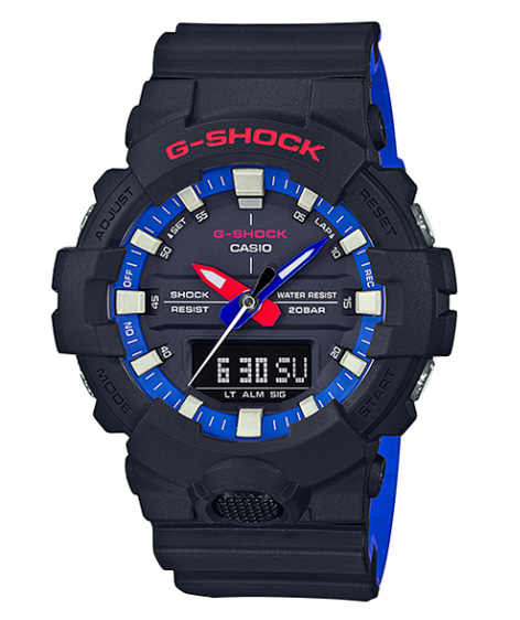 f63a63392e3db G-SHOCK G ショックジーショックカシオ CASIO アナデジ watch black blue red white GA-800LT-1AJF