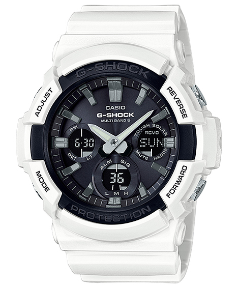 G-SHOCK Gショック ジーショック カシオ CASIO 電波ソーラー アナデジ 腕時計 ホワイト ブラック GAW-100B-7AJF【国内正規モデル】
