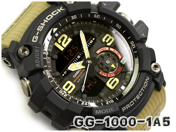 7af464b60d G-SHOCK G ショックジーショック MUDMASTER mad master reimportation foreign countries  model Casio CASIO アナデジ watch black khaki beige ...