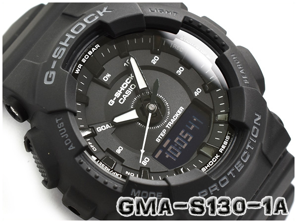 43725f2dee113 G-SHOCK G ショックジーショックカシオ CASIO-limited model S Series S シリーズランニングモデルアナデジ  watch black GMA-S130-1AER GMA-S130-1A