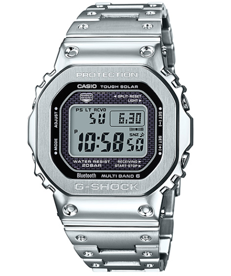 8cdbca2f9d3 Limited model full metal 5000 Casio CASIO smartphone link electric wave  solar digital watch silver GMW