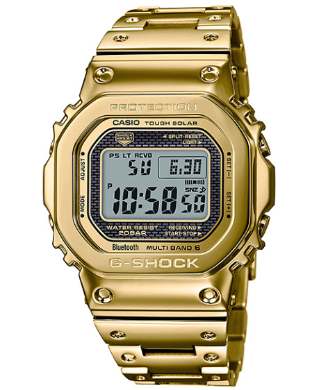 bedb8863ded Limited model full metal 5000 Casio CASIO smartphone link electric wave  solar digital watch gold GMW-B5000TFG-9JR of the 35th anniversary of  G-SHOCK G ...