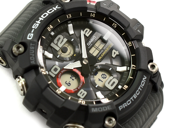 G-SHOCK Gショック ジーショック MUDMASTER 逆輸入海外モデル カシオ CASIO アナデジ ソーラー 腕時計 ブラック グレー GSG-100-1A8DR GSG-100-1A8【あす楽】