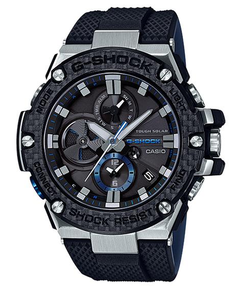 G-SHOCK Gショック ジーショック G-STEEL Gスチール Bluetooth モバイルリンク機能 カシオ CASIO ソーラー アナログ メンズ 腕時計 ブラック ブルー GST-B100XA-1AJF【国内正規モデル】【あす楽】