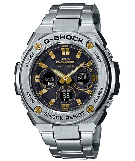 G-SHOCK Gショック ジーショック G-STEEL Gスチール カシオ CASIO 電波 ソーラー アナデジ メンズ 腕時計 ゴールド ブラック シルバー GST-W310D-1A9JF【国内正規モデル】