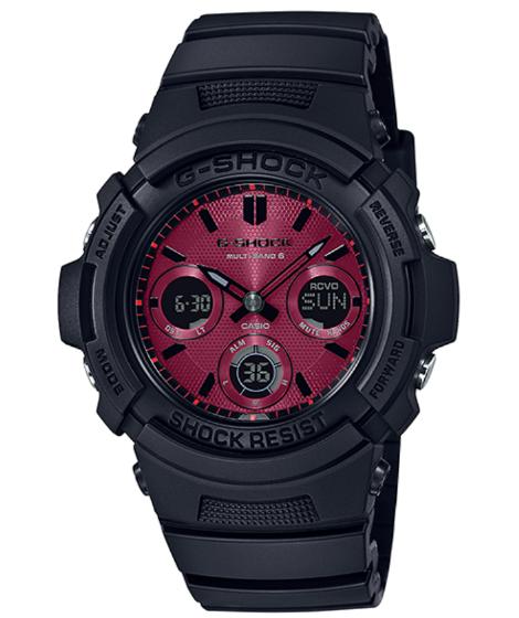 G-SHOCK Gショック ジーショック Black and Red Series カシオ CASIO 電波 ソーラー アナデジ 腕時計 ブラック レッド AWG-M100SAR-1AJF【国内正規モデル】