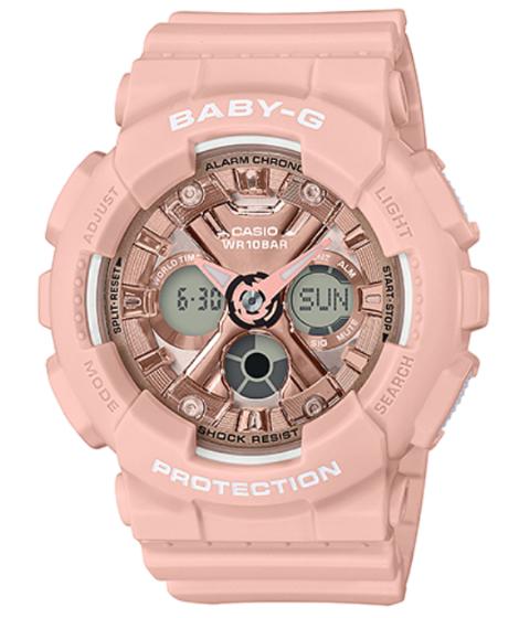 BABY-G ベビーG ベビージー カシオ CASIO アナデジ 腕時計 ピンクゴールド BA-130-4AJF【国内正規モデル】