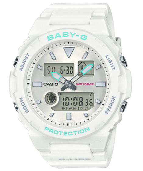 BABY-G ベビーG ベビージー G-LIDE ジーライド カシオ CASIO アナデジ 腕時計 ホワイト ターコイズ BAX-100-7AJF【国内正規モデル】【あす楽】