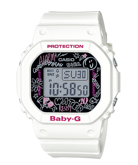 Baby G Baby G ベビージー Graffiti Face Graffiti Face Casio Casio Digital Watch White Black Bgd 560sk 7jf