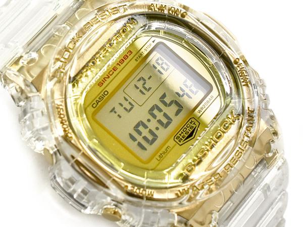 G-SHOCK Gショック ジーショック カシオ CASIO 日本製 35周年限定モデル GLACIER GOLD スティングモデル 逆輸入海外モデル デジタル 腕時計 クリアスケルトン ゴールド DW-5735E-7DR DW-5735E-7