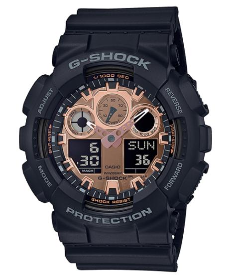 G-SHOCK Gショック ジーショック カシオ CASIO アナデジ 腕時計 ブラック ローズゴールド GA-100MMC-1AJF【国内正規モデル】【あす楽】