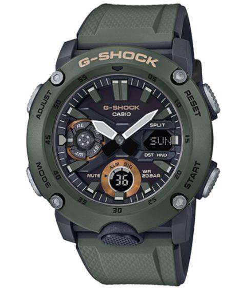 G-SHOCK Gショック ジーショック カシオ CASIO アナデジ 腕時計 モスグリーン ブラック GA-2000-3AJF【国内正規モデル】【あす楽】