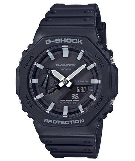 カシオーク G-SHOCK Gショック ジーショック カシオ CASIO カーボンコアガード アナデジ 腕時計 ブラック ホワイト GA-2100-1AJF【国内正規モデル】【あす楽】