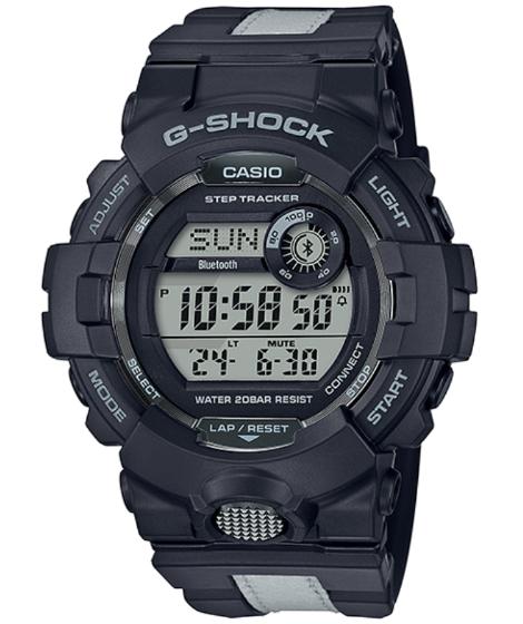 G-SHOCK Gショック ジーショック G-SQUAD ジースクワッド カシオ CASIO Bluetooth スマートフォンリンク デジタル 腕時計 ブラック グレー リフレクター GBD-800LU-1JF【国内正規モデル】