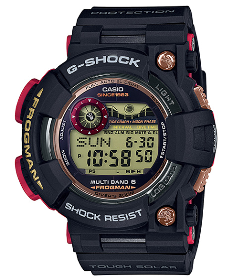 Limited model FROGMAN frogman magma ocean Casio electric wave solar digital  watch GWF-1035F-1JR of the 35th anniversary of G-SHOCK G-Shock made in
