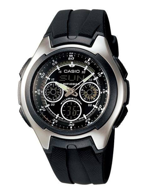 b969a531fb1 Domestic genuine CASIO CASIO STANDARD standard an analog-digital Watch  Silver Black polyurethane band AQ