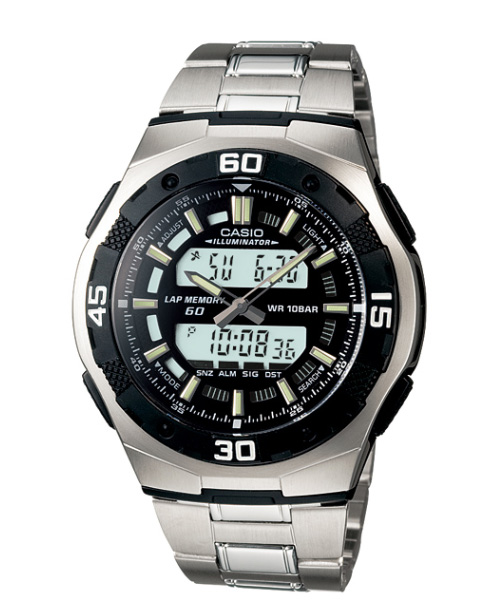 ef9b05f505f Casio CASIO STANDARD standard an analog-digital Watch Silver Black AQ-164WD-1AJF  regular domestic