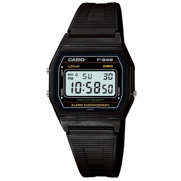 真正的黑 f-84W-1 國家的標準的數位手錶,凱西歐凱西歐標準