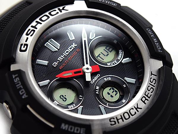 Casio reimport G shock international model solar radio an analog-digital watch black urethane belt AWG-M100-1ADR