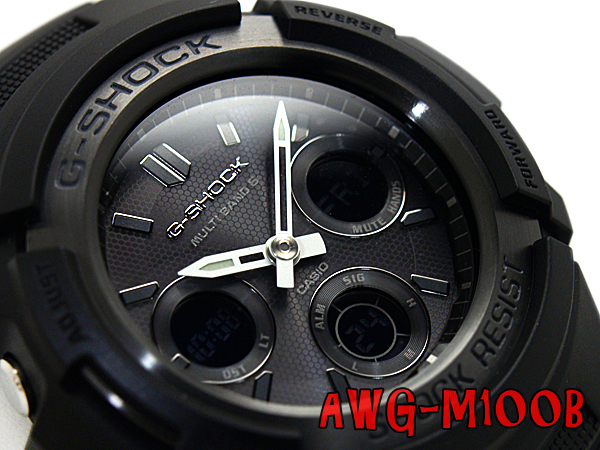 + Casio reimport G shock international model solar radio an analog-digital watch black urethane belt AWG-M100B-1ADR