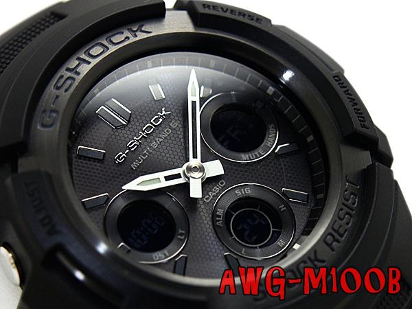 G-SHOCK Gショック ジーショック 逆輸入海外モデル カシオ 電波ソーラー 腕時計 AWG-M100B-1ADR AWG-M100B-1A オールブラック【あす楽】