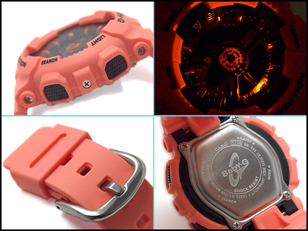 2351b937df CASIO Baby-G Casio baby G-limited model reimportation foreign countries  モデルアナデジ watch black orange BA-111-4A2DR BA-111-4A2