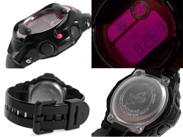 + CASIO baby-g Casio baby G Color Display Series color monitor digital watch pink black BG-169R-1BDR