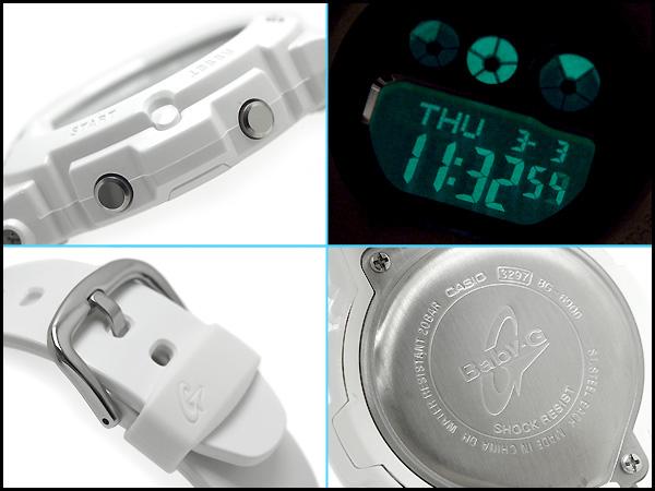 + Casio baby G overseas imports models ladies digital watch metallic silver dial white BG-6900-7DR