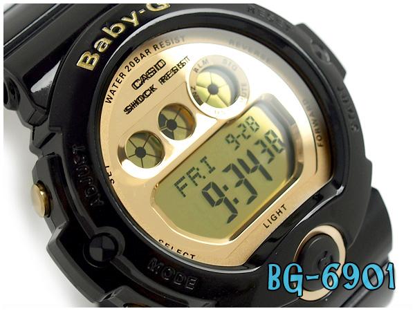 Casio Baby G Ladies Digital Watch Metallic Gold Dial Black Bg 6901 1jf