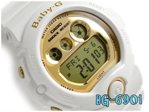 bfc7cc20cd61 G-SUPPLY  Casio baby G lady s digital watch metallic gold dial white BG-6901-7JF  fs3gm